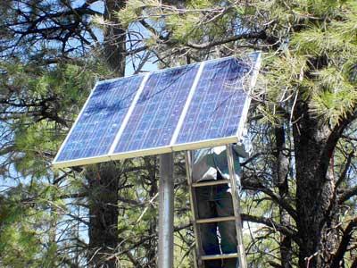 Arizona Solar Center - How Not to Install PV - Shadow